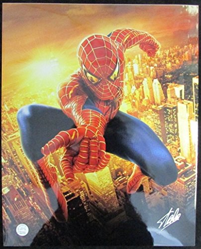 Stan Lee Marvel Spider-Man Autographed/Signed 16x20 Inch Photo LEE HOLO SLC54377