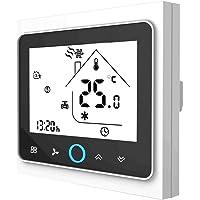 Termostato WiFi para caldera de gas, termostato inteligente pantalla LCD (TN pantalla) Touch Button retroiluminado…
