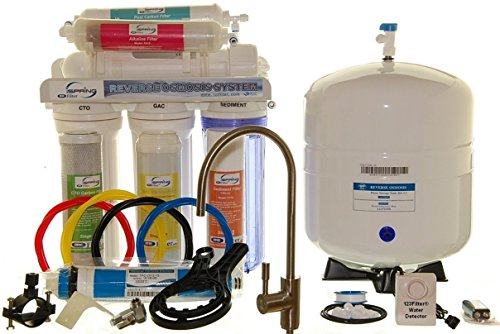 Flamboyant Chic Reverse Osmosis Alkaline Ionizer Water PH Filter 6-Stage System Purifies 75 gallons White