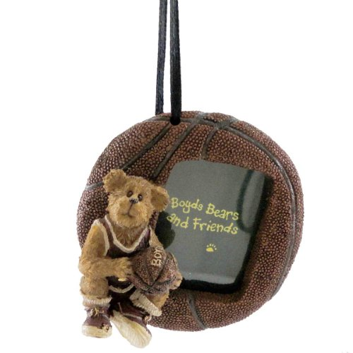 Boyds Bears Resin BASKETBALL FRAME ORNAMENT 25312 Sports Hoops New (Bear Frame Ornament)