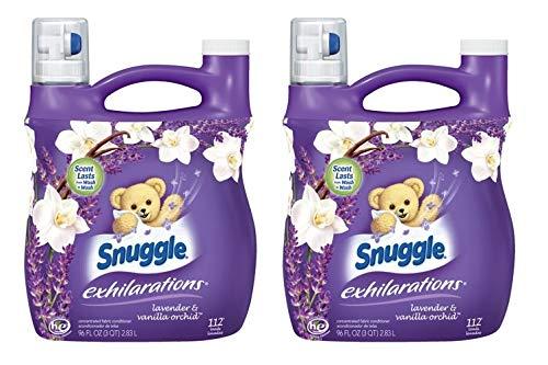 Snuggle Exhilarations Fabric Softener Liquid, White Lavender & Sandalwood, 96 Ounces, 96 Loads (Pack of 2)