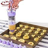 18ピースクッキースタンプビスケットプレス機キッチンツールケーキデコレーションツールクッキープレスアイシングノズルメーカー耐熱皿ツール