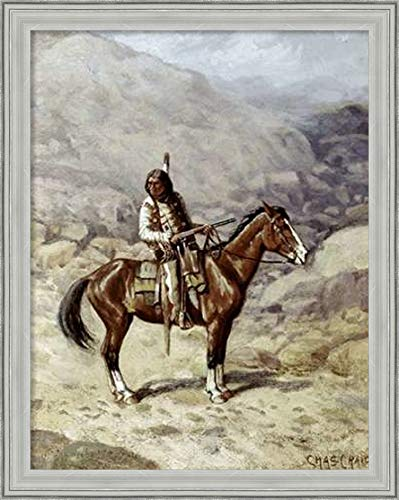 Framed Canvas Wall Art Print   Home Wall Decor Canvas Art   Indian on Horseback by Charles Craig   Casual Decor   Stretched Canvas Prints