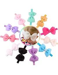 Changeshopping 11PC Babys Girls Flower Sequins Bowknot Photography Hairband Headband