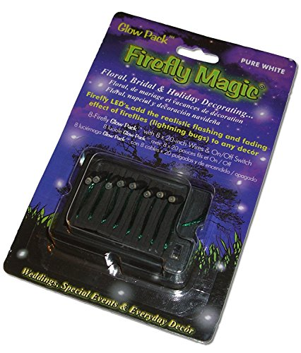 Firefly Magic Glow Pack(TM) Battery-Operated Floral & Centerpiece Firefly Lights (Lightning Bug Lights) - Model FM-2AAPK2 (Pure ()