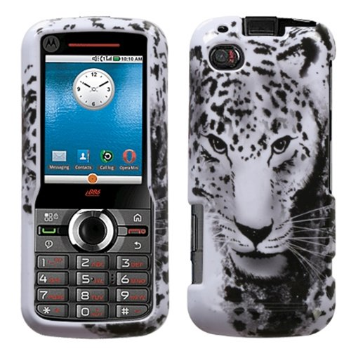 (Snow Leopard Phone Protector Faceplate Cover For MOTOROLA i886)