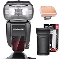 Neewer 2.4G HSS 1/8000s TTL GN60 Wireless Master Slave Flash Speedlite for Canon 7D Mark II 5D Mark II III IV 1300D 1200D 750D 700D,600D,80D and Other Canon DSLR Camera (NW600EX-RT)