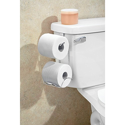 Interdesign classico toilet paper holder for bathroom storage over the tank horizontal - Interdesign toilet paper holder ...