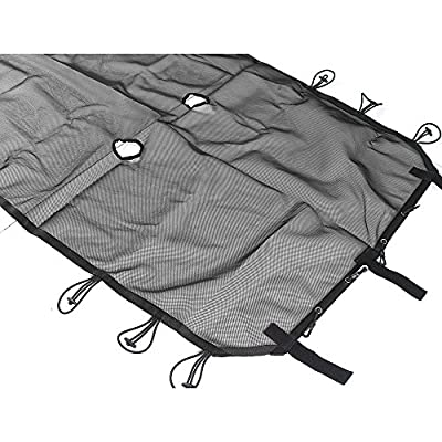 JeCar 4 Door Durable Polyester Mesh Shade Top Cover Provides UV Sun Protection for Jeep Wrangler JK & Unlimited 2007-2020 (Black): Automotive