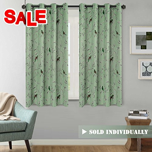 H.VERSAILTEX Traditional Birds Floral Pattern in Quiet Green