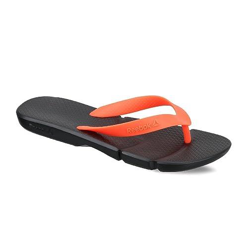 78e225c9ad3d55 Reebok Men s Fresco Flip Black and Neon Cherry Flip-Flops and House Slippers  - 4
