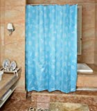 YJBear Mediterranean Starfish Conch Shell Print Polyester Mildew Resistant Fabric Shower Curtain with 10 Hooks for Bathroom Anti-bacterial Bath Decor Waterproof Bathroom Curtain Blue 79'' X 79''