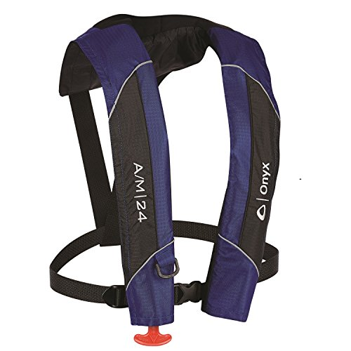 (Onyx A/M-24 Automatic/Manual Inflatable Life Jacket, Blue)