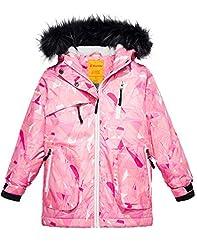 Wantdo Girls Waterproof Ski Jacket Parka...