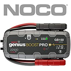 The GB150 is a compact, yet powerful lithium-ion jump starter for 12-volt batteries. With it, you can safely jump start a dead battery in seconds - up to 80 times on a single charge. It's mistake-proof, making it safe for anyone to use and fe...