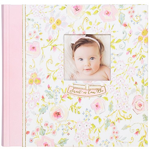 C.R. GibsonSweet as Can Be Slim Bound Photo Journal Album for Baby and Newborn Girls, 9 W x 8.875 H, 80 Pages