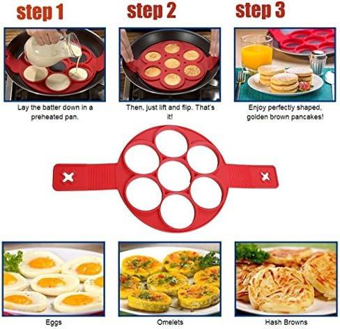 Silicone Non Stick Pancake Maker Mould Egg Omelette Mold Breakfast Tool Ring UK
