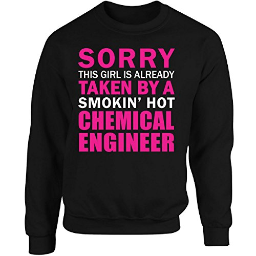 This Girl Taken by Smokin' Hot Chemical Engineer Wife Gift - Adult Sweatshirt Black