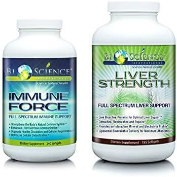 BIOSCIENCE Immune Force & Liver Strength Bundle - Super Advanced Immune Support Booster and Liver Support Detox Supplement For Men & Women