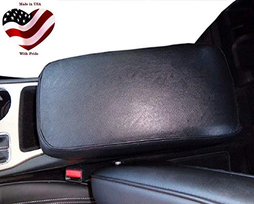 Car Console Covers Plus Made in USA Faux Leather Center Armrest Console Cover Designed for Chevy Colorado Models 2015-2020 Black