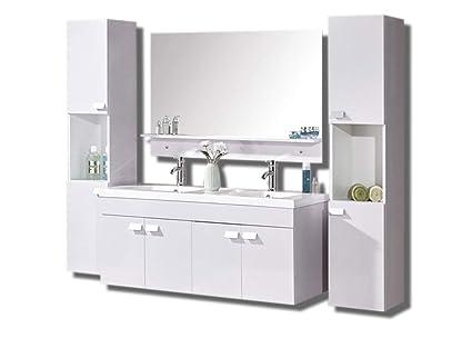Mobile bagno completo di specchio e mobile vecchia ghiacciaia in