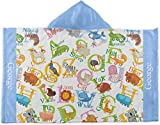 RNK Shops Animal Alphabet Kids Hooded Towel (Personalized)