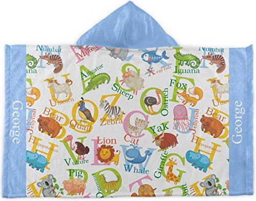 RNK Shops Animal Alphabet Kids Hooded Towel (Personalized) by RNK Shops