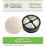 Shark HEPA Style Filter & Felt Filter, Part # XSB602, Fits EP602, EP602F, EP602H, EP602W, EP603, EP603H, EP6312H, EP677, EP677TD & FS801