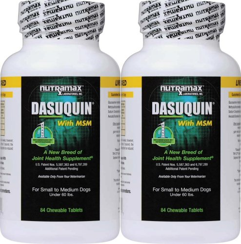 Nutramax Dasuquin Chewable Tablets w/ MSM for S/M Dogs 168ct (2x84ct)