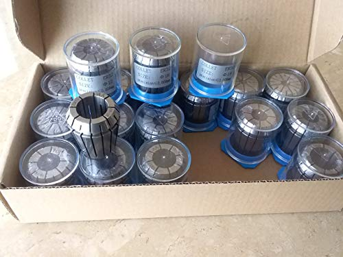 18pcs/Set ER32 Metric Collet Set 3mm - 20mm Step 1mm, TIR 0.008mm #ER32-SET18M