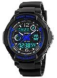 Kid Watch Multi Function Digital LED Sport 50M Waterproof Electronic Analog Quartz Watches for Boy Girl Children Gift Blue
