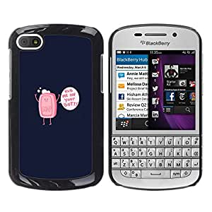 Stuss Case / Funda Carcasa protectora - Rub Me On Your Butt Soap - Funny - BlackBerry Q10
