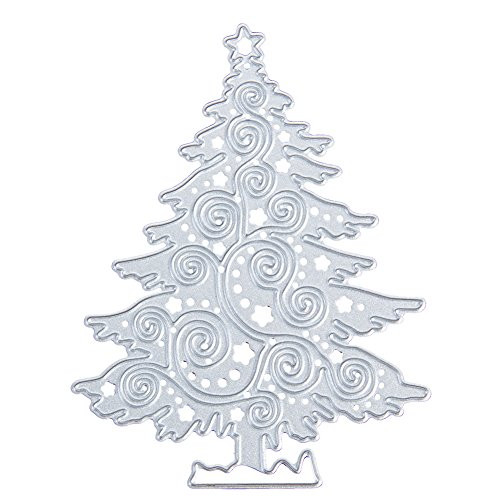 Christmas Cutting Dies for DIY Scrapbook Supplies, Metal Die Cuts for Card Making, DIY Scrapbooking and Embossing Paper Craft (Christmas Tree)