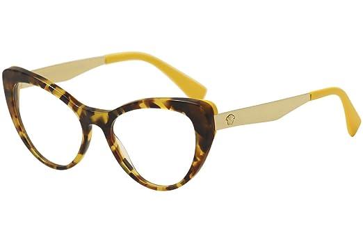 versace ve3244 eyeglass frames 5242 51 havana yellow ve3244 5242 51 - Yellow Eyeglass Frames