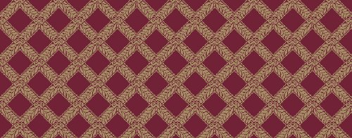 Kane Carpet - Garden Trellis Collection - Red Satin - SQUARE -