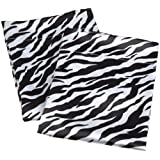 Divatex Royal Opulance Satin Pillow Case Pairs, Zebra Black/White