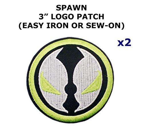 Diy Spawn Costume (2 PCS Spawn Movie Theme DIY Iron / Sew-on Decorative Applique Patches)
