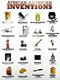 "777 Tri-Seven Entertainment African American Inventions Poster Black History Famous People Inventors 18"" x 24"" (White)"