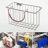 Sink Shelf Dishcloth Soap Sponge Drain Rack Bathroom Holder Kitchen Storage Hot