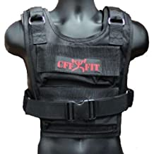 CFF Weighted Short Vest (36 lbs) - Great for Cross Training, Running & Fireman Training