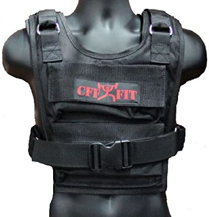 CFF Weighted Short Vest (Shell Only - Up to 36lb Capacity)- Great for Cross Training, Running & Fireman Training, 36-Pound/ Strength Training Equipment at amazon