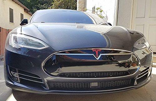 Teslaロゴステッカーモデルs.「T」pre-2016デカールステッカー鼻円錐フロントエンブレム。レッド購入 – エドウィン企業のグループ。 B07B51KYC9