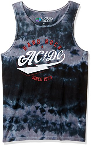 - Liquid Blue Men's Ac/dc Hard Rock Tank Top T-Shirt, Multi Tie Dye, 2XL