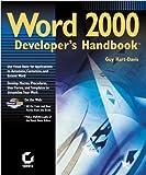 Word 2000 Developer's Handbook, Guy Hart-Davis, 0782123295