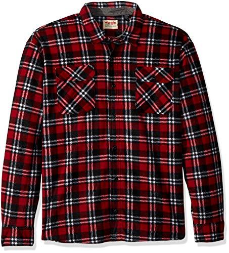 Wrangler Authentics Men's Big and Tall Long Sleeve Plaid Fleece Shirt, Bossa Nova Tartain Plaid, ()