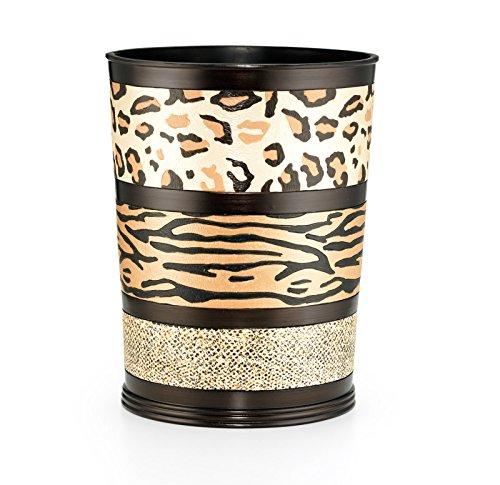(Popular Bath Waste Basket, Jezella Collection, Animal Print)