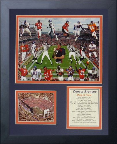 Legends Never Die NFL Denver Broncos Greats Framed Photo Collage, 12