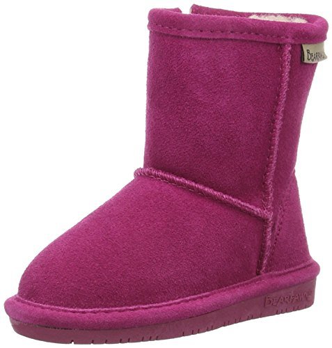 BEARPAW Girls' Emma Zipper Mid Calf Boot, Pomberry, 12 M US Little Kid