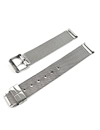Quick Release Watch Band,Hotkey Silver Milanese Stainless Steel Replacement Bracelet Wrist Watch Band Strap With Needle Buckle 14mm 16mm 18mm 20mm 22mm 24mm (14mm)
