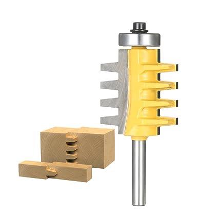 Festnight 1 4 Shank Reversible Finger Glue Joint Router Bit Cone